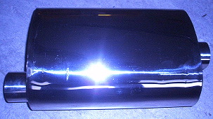 Bild rostfri reflektionsljuddämpare 350 mm i 2.5 tum