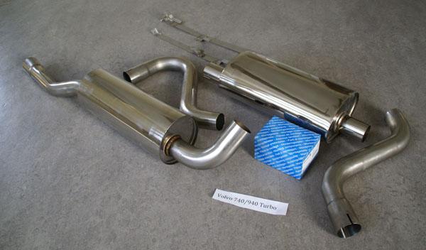 Rostfritt avgassystem Volvo 940 turbo/lättrycksturbo.Billiga avgasrör till Volvo 940/945
