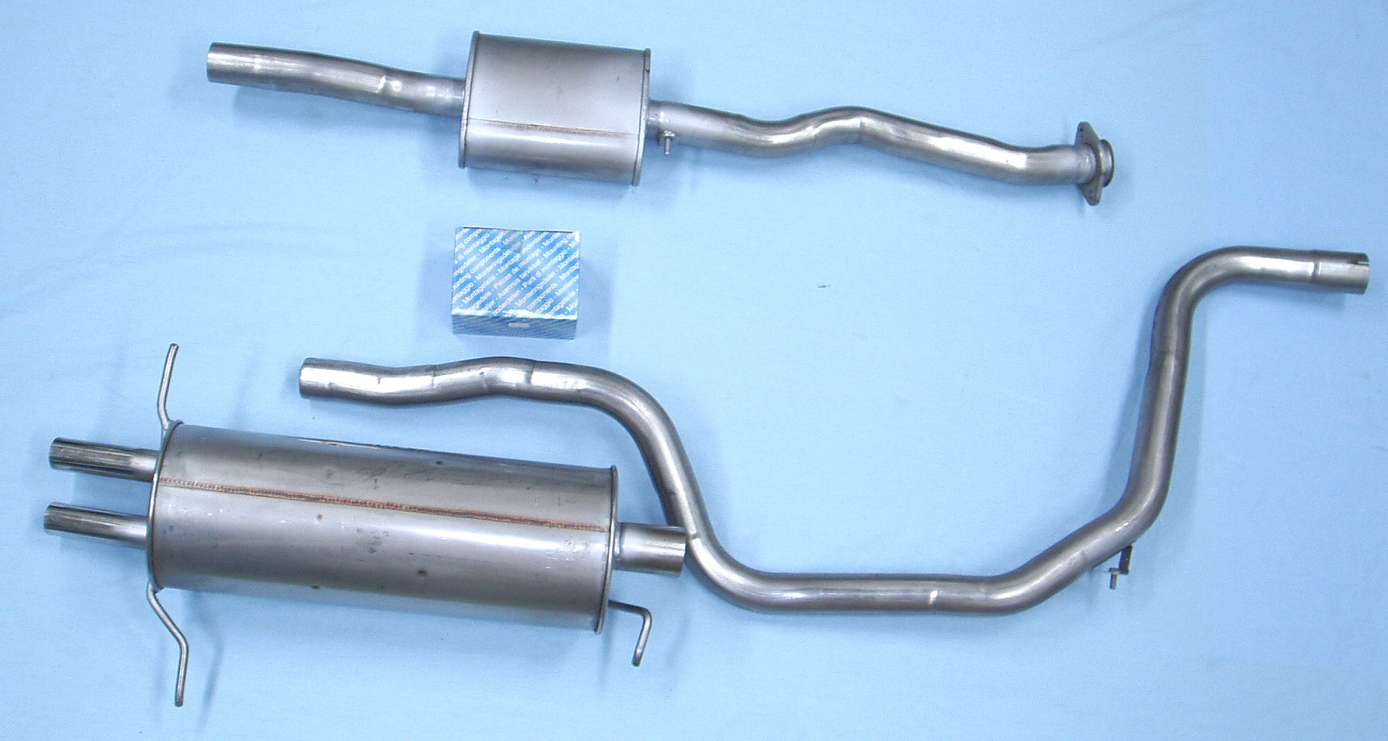 Mazda 626 2.0 (1983-aug.1987), stainless-steel-exhaust 3 rear parts ...