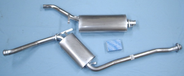 Picture stainless-steel exhaust SAAB 9000 CD
