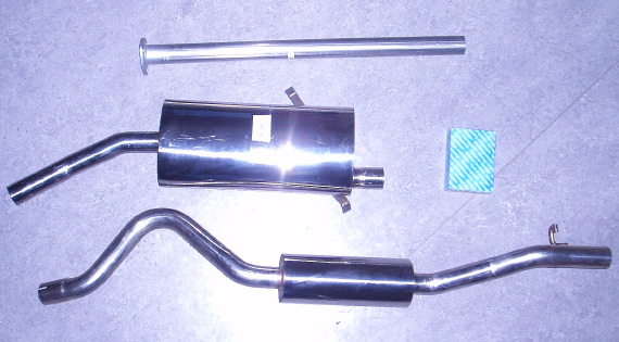 Image stainless-steel-exhaust SAAB 900 i 16v
