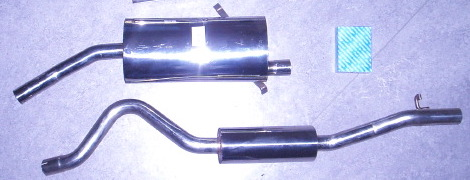 Picture stainless-steel exhaust SAAB 900