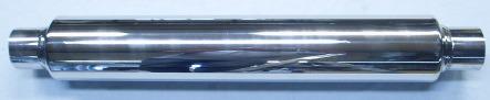 Bild lång rund rostfri ljuddämpare