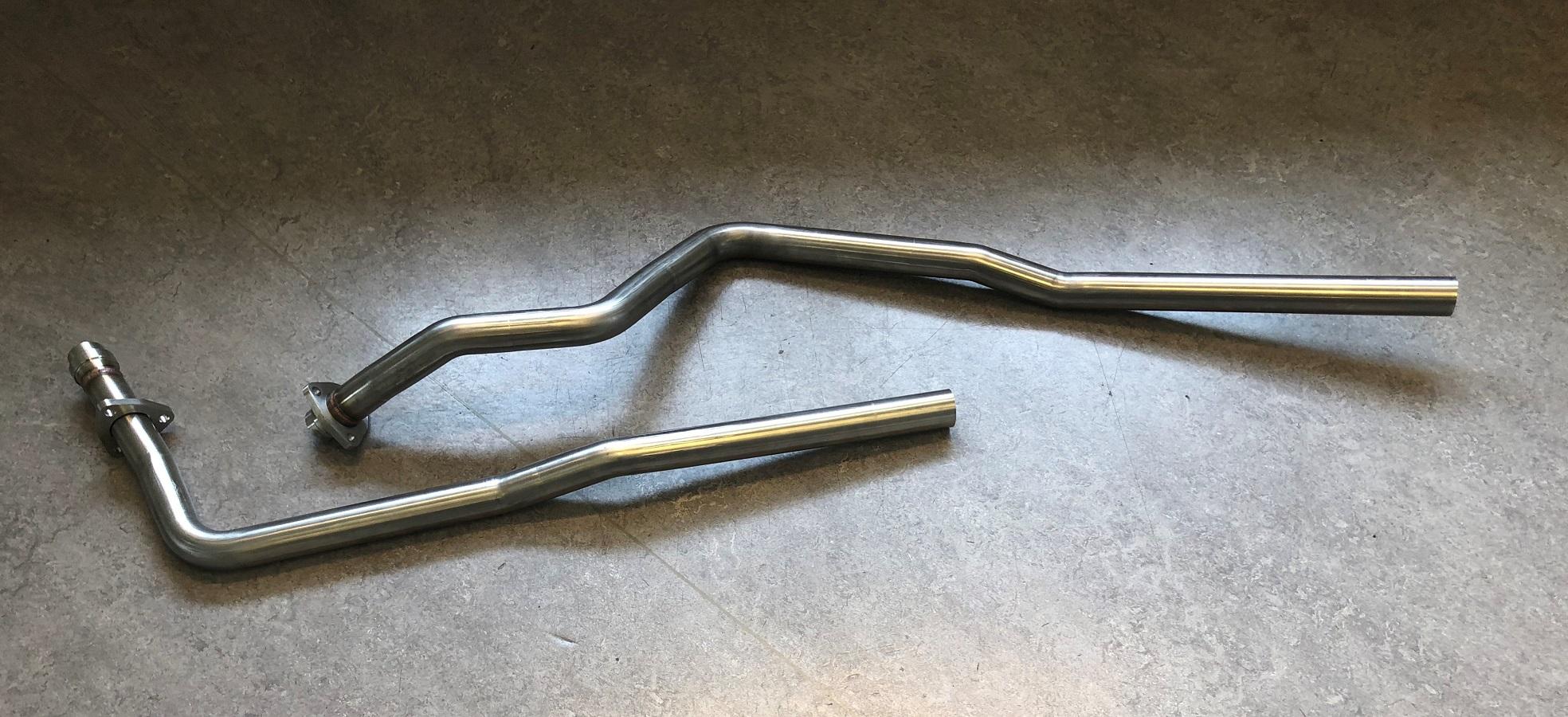 Bild rostfritt avgassystem Mercedes 230E W124
