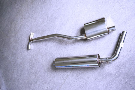 Picture stainless-steel-exhaust Mercedes 219 & 220