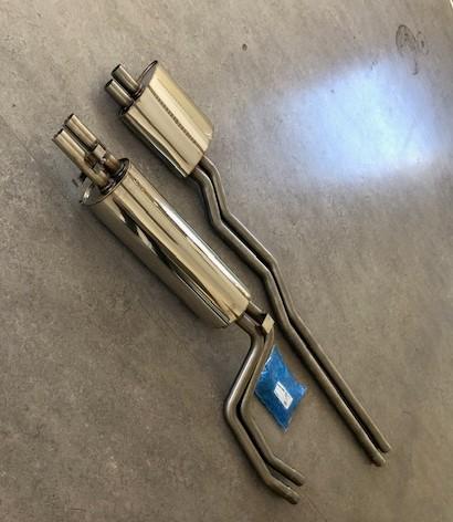 Bild rostfritt avgassystem Mercedes 280/8 E/C/CE W114